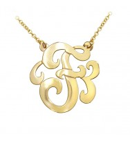 Swirly Initial Gold Plated Sterling Silver