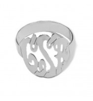 Monogram Ring  Sterling Silver