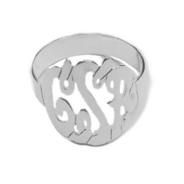 Monogram Ring  Sterling Silver