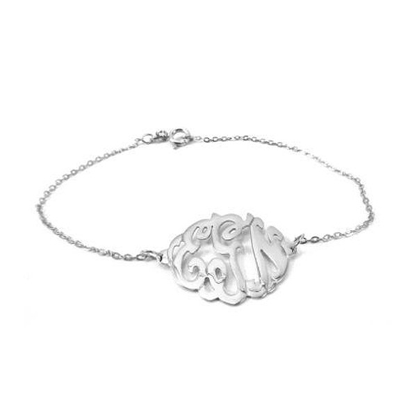 Monogram Sterling Silver Bracelet