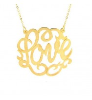 Swirly Gold Dipped Sterling Silver Necklace