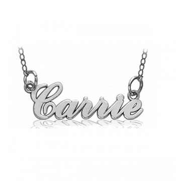 "Name necklace ""Carrie"" script sterling silver"