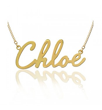 "Name necklace ""Chloe"" gold plated sterling silver"