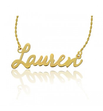 "Name necklace ""Lauren"" gold plated sterling silver"