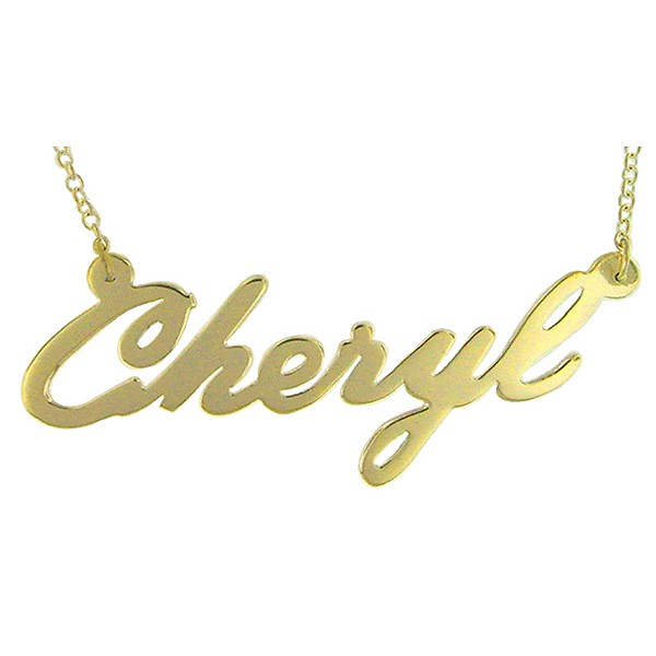 "Name necklace ""Cheryl"" gold plated sterling silver"