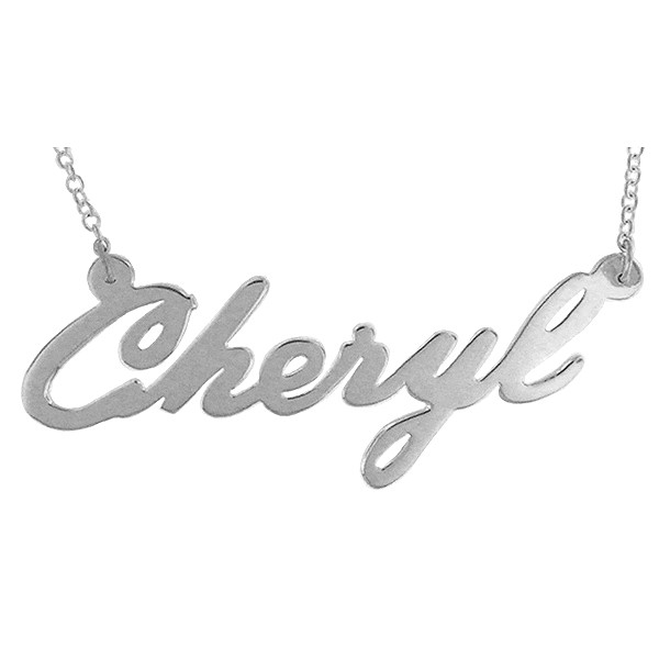 "Name necklace ""Cheryl"" sterling silver"