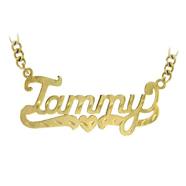"""Name necklace """"Tammy"""" gold plated sterling silver"""